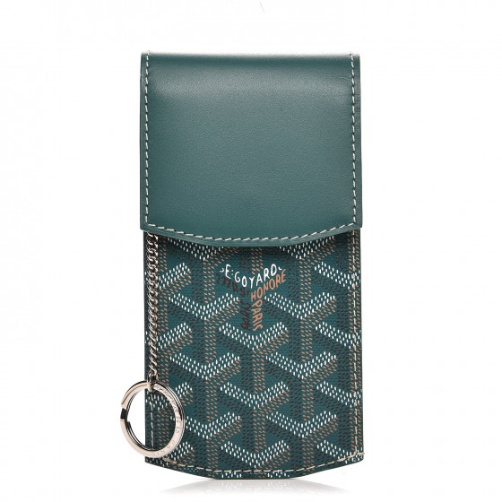 GOYARD Replica Chevron Portier GM Key Pouch Green Buy Best Cheap